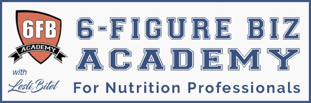 6-Figure Biz Academy For Nutrition Professionals