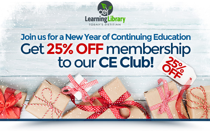 Join us for a New Year of Continuing Education! Get 25% off membership to our CE Club!