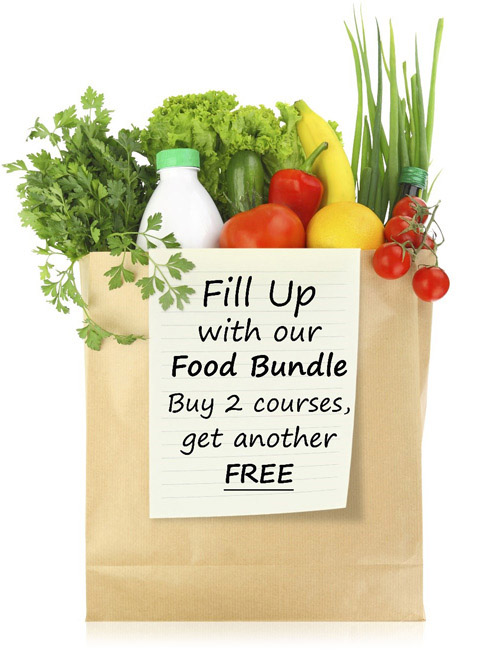 Fill up with our Food Bundle - Buy 2 courses, get another FREE!