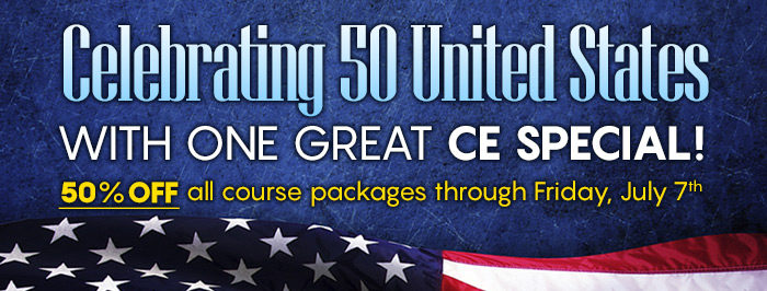 Celebrating 50 United States With One Great CE Special!