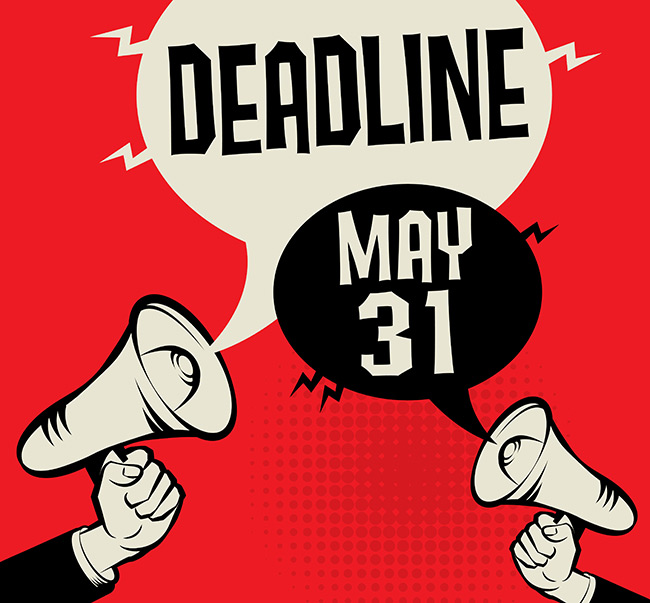 Deadline: May 31