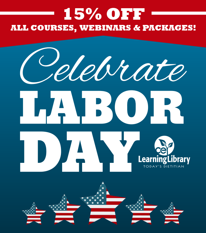 15% off all courses, webinars & packages! Celebrate Labor Day!