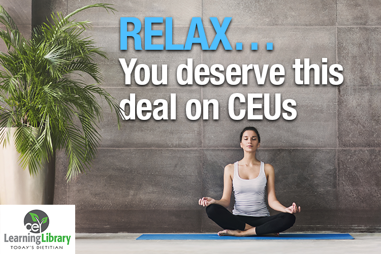 RELAX... You deserve this deal on CEUs.