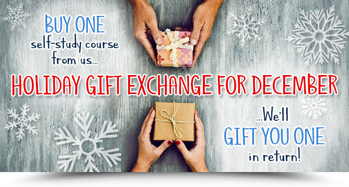 HOLIDAY GIFT EXCHANGE FOR DECEMBER | Buy one self-study course from us, we'll gift you one in return!