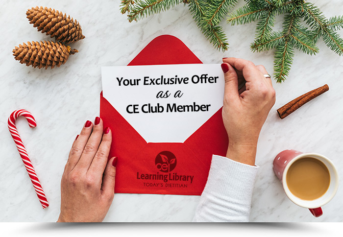Your Exclusive Offer as a CE Club Member