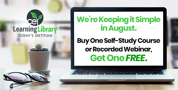 We're Keeping it Simple in August. Buy One Self-Study Course or Recorded Webinar, Get One FREE.