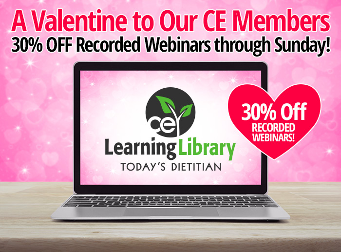 A VALENTINE TO OUR CE MEMBERS: 30% OFF OUR RECORDED WEBINARS THROUGH SUNDAY!