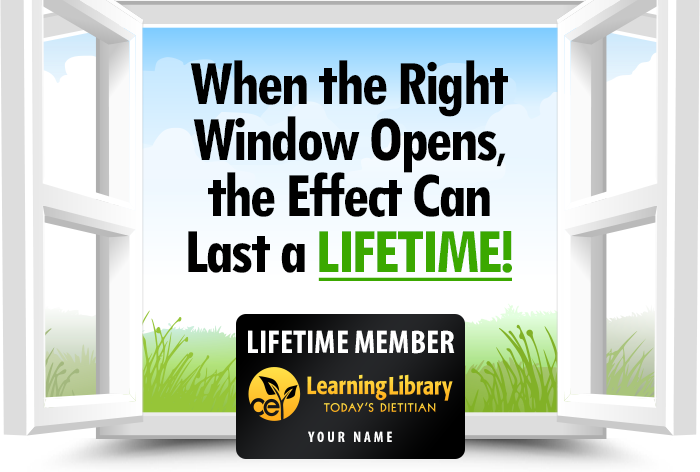 When the Right Window Opens, the Effect Can Last a Lifetime!