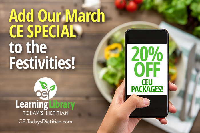 Add Our March CE Special to the Festivities!