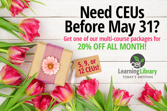 NEED CEUs BEFORE MAY 31ST? Get one of our multi-course packages for 20% off all month!