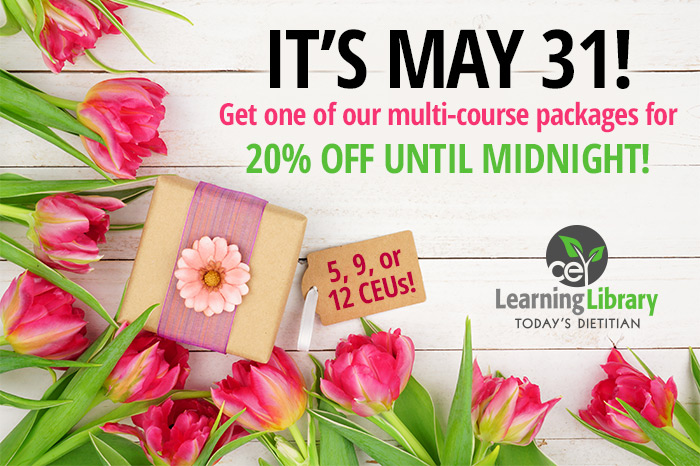 IT'S MAY 31! Get one of our multi-course packages for 20% off UNTIL MIDNIGHT!