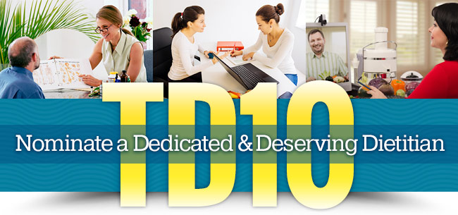 Nominate a Dedicated & Deserving Dietitian