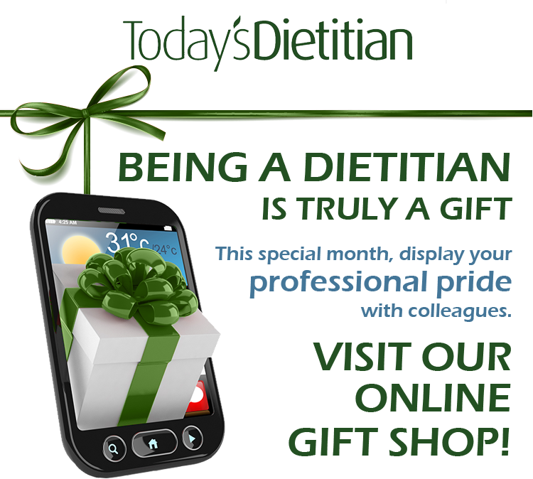 Being a Dietitian is Truly a Gift. This special month, display your professional pride with colleagues. Visit our online Gift Shop!
