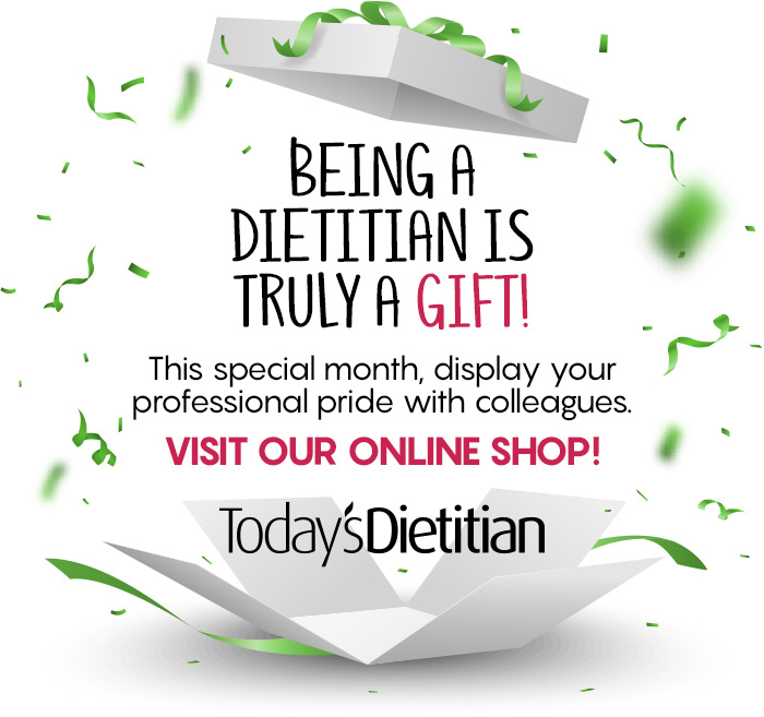 Being a Dietitian is truly a GIFT! This special month, display your professional pride with colleagues. Visit our online gift shop!