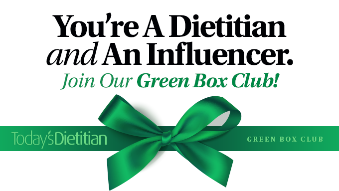You're A Dietitian AND An Influencer. Join Our Green Box Club!