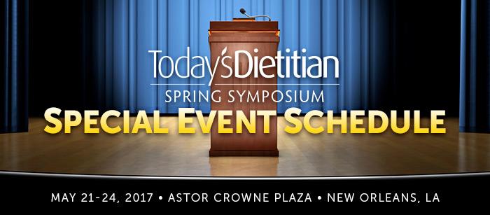 2017 Spring Symposium Special Event Schedule