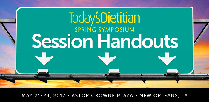 2017 Spring Symposium Session Handouts