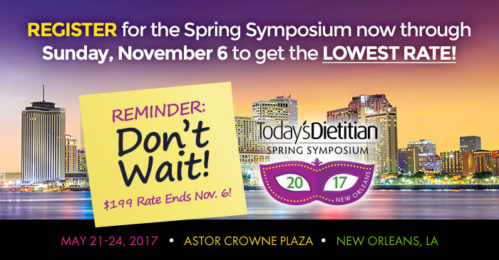 Today's Dietitian 2017 Spring Symposium