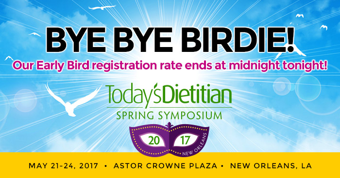 BYE BYE BIRDIE! Our Early Bird registration rate ends at midnight tonight!