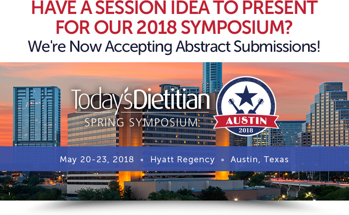 Have a Session Idea to Present for Our 2018 Symposium? We're Now Accepting Abstract Submissions! May 20-23, 2018, Hyatt Regency, Austin, Texas