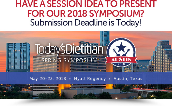 Have a Session Idea to Present for Our 2018 Symposium? Submission Deadline is Today! May 20-23, 2018, Hyatt Regency, Austin, Texas