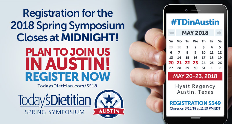 Registration for the 2018 Spring Symposium Closes at MIDNIGHT! Plan to Join Us in Austin! May 20-23, 2018, Hyatt Regency, Austin, Texas - Registration $349 - Closes on 3/15/18 at 11:59 PM EDT - REGISTER NOW!