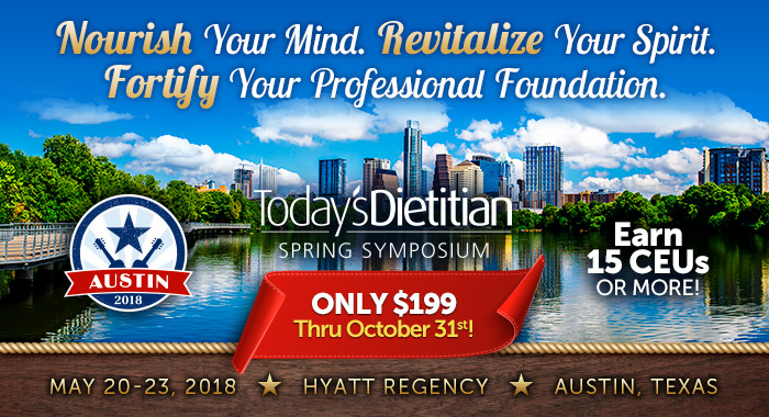 Nourish Your Mind. Revitalize Your Spirit. Fortify Your Professional Foundation. May 20-23, 2018, Hyatt Regency Austin, Texas