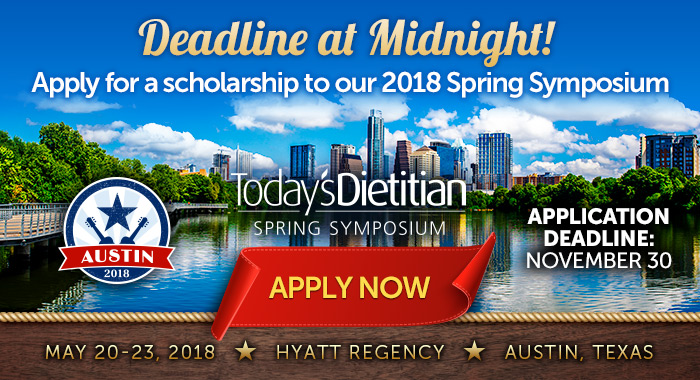 Deadline at Midnight! Apply for a scholarship to our 2018 Spring Symposium. May 20-23, 2018, Hyatt Regency Austin, Texas