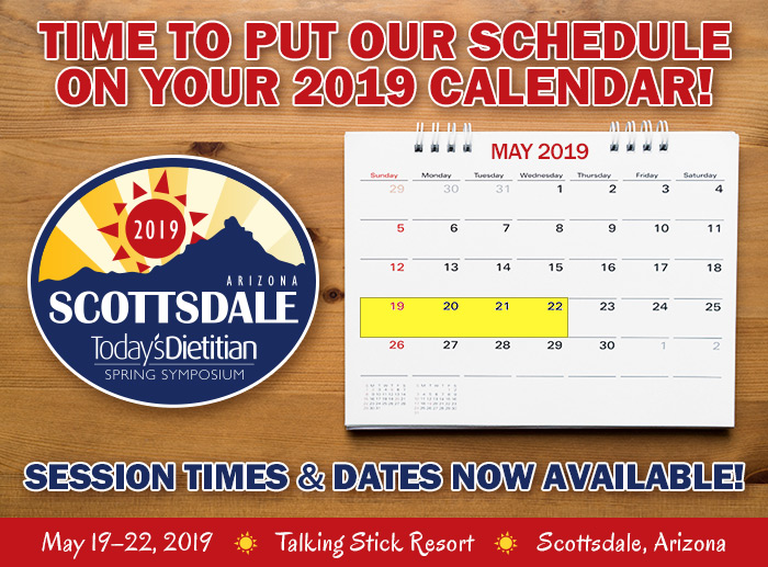Time to Put Our Schedule on Your 2019 Calendar! Session Times & Dates Now Available!