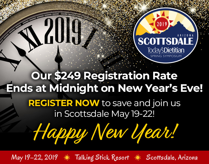 Our $249 Registration Rate Ends on Midnight New Year's Eve! Register now to save and join us in Scottsdale May 19–22! HAPPY NEW YEAR!
