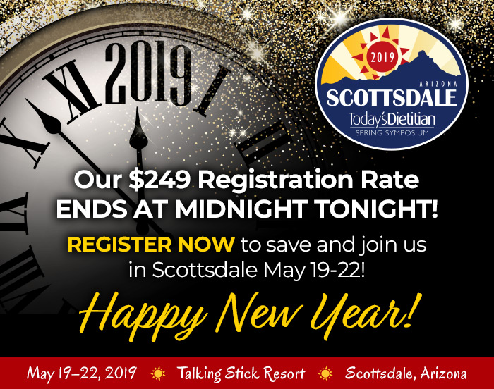 Our $249 Registration Rate Ends on Midnight TONIGHT! Register now to save and join us in Scottsdale May 19–22! HAPPY NEW YEAR!