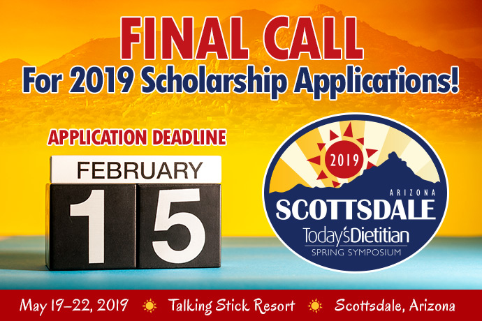 Final Call For 2019 Scholarship Applications! Application Deadline: February 15, 2019 - 2019 Spring Symposium - May 19-22, 2019, Talking Stick Resort, Scottsdale, Arizona