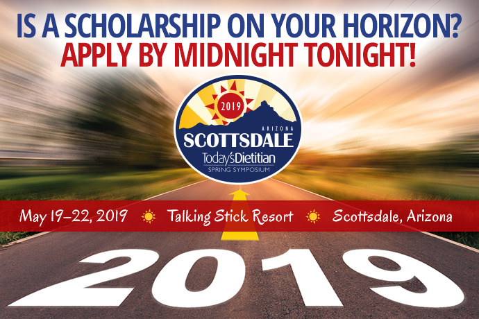 Is a Scholarship on Your Horizon? APPLY BY MIDNIGHT TONIGHT! - 2019 Spring Symposium - May 19-22, 2019, Talking Stick Resort, Scottsdale, Arizona