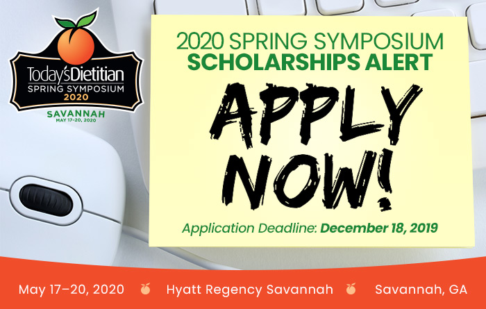 2020 Spring Symposium Scholarships Alert: APPLY NOW! | 2020 Spring Symposium | May 17-20, 2020, Savannah, GA