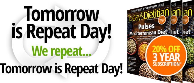 Tomorrow is Repeat Day. We repeat, Tomorrow is Repeat Day!