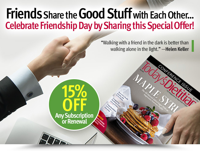Friends Share the Good Stuff with Each Other. Celebrate Friendship Day by Sharing this Special Offer!