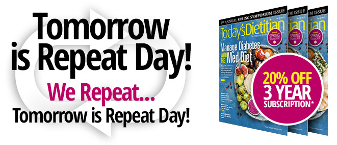 Tomorrow is Repeat Day! We Repeat... Tomorrow is Repeat Day!