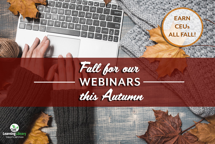 Fall for our Webinars this Autumn