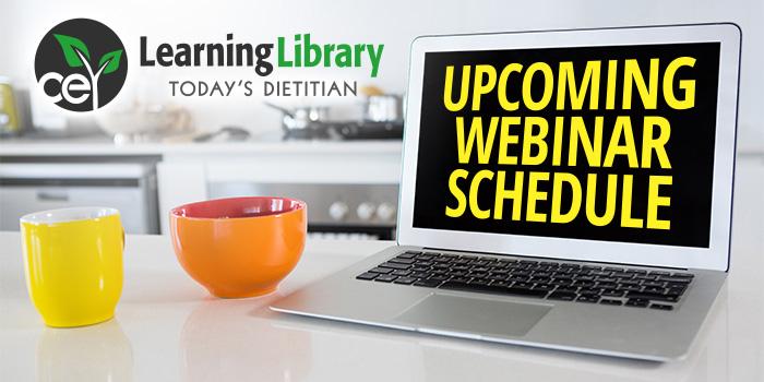 Upcoming Webinar Schedule