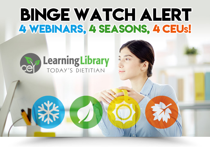 BINGE WATCH ALERT: 4 WEBINARS, 4 SEASONS, 4 CEUs!